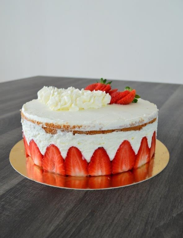 Fraisier mascarpone chantilly
