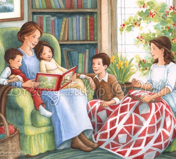 Story-time with Mama - Art Print. $22.00, via Etsy.