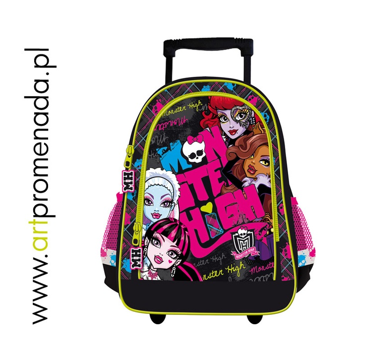 Monster High plecak na kólkach - Monster High trolley