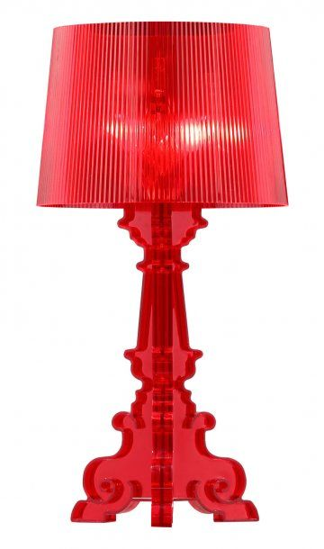 Salon L Red Table Lamp by Zuo Lighting