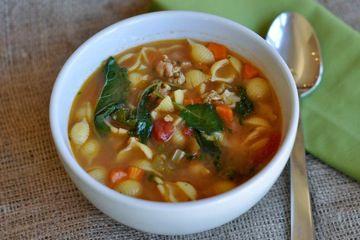 chicken sausage minestra soup