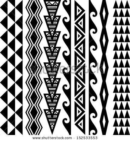 Kakau Hawaiian Tattoo Collection by mushan, via Shutterstock