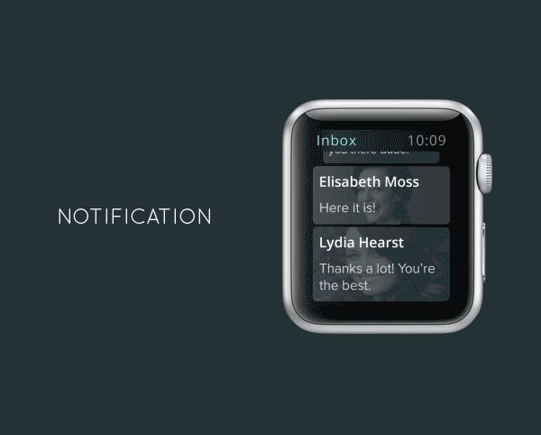 Messenger for Apple Watch - Notification by Ehsan Rahimi on #Behance #UI #UX