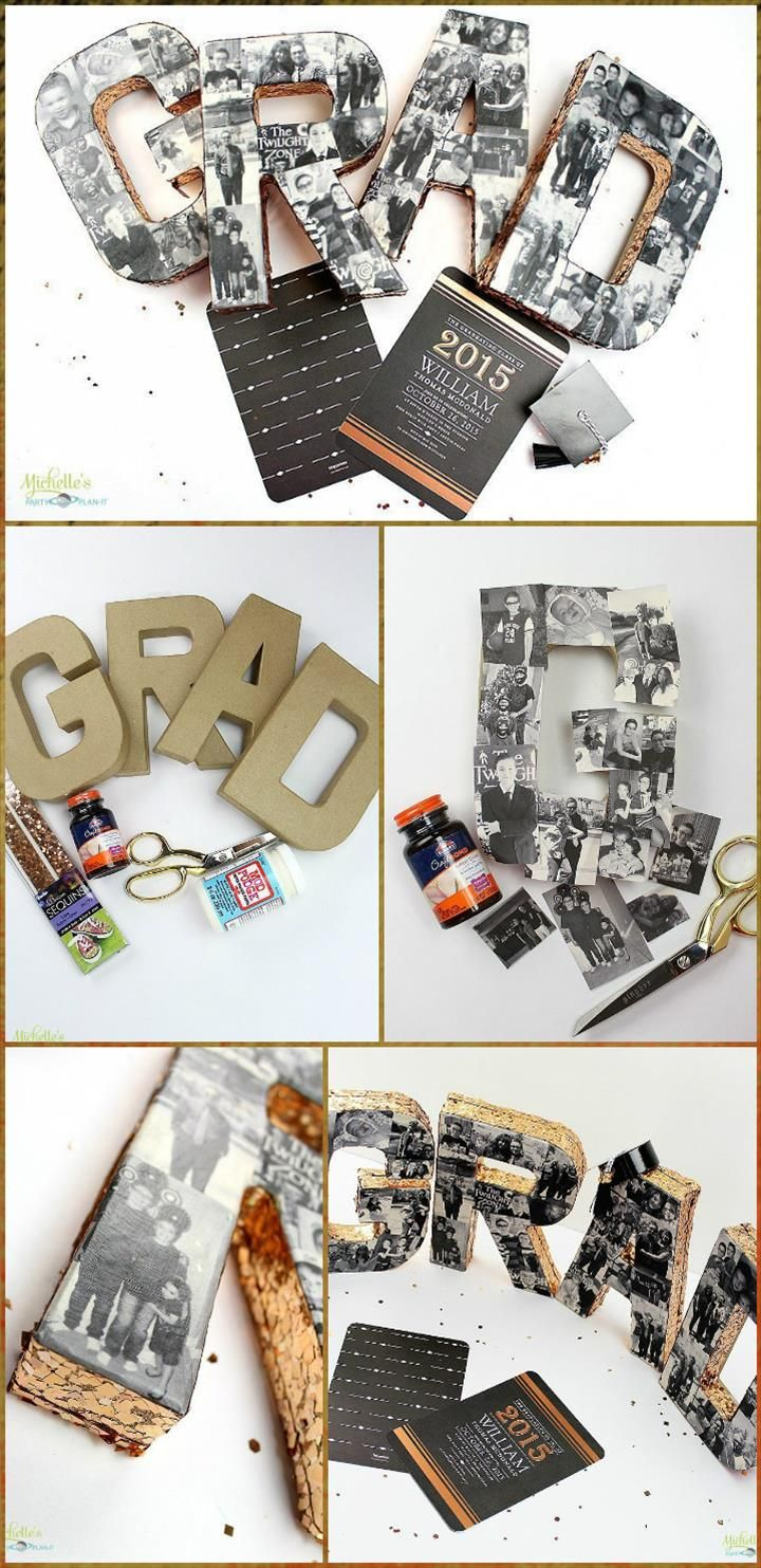 self made graduation party photo collage 50 diy graduation party
