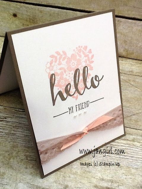 Jan Girl: Stampin' Up Hello and Bloomin' Love Quick and Simp...