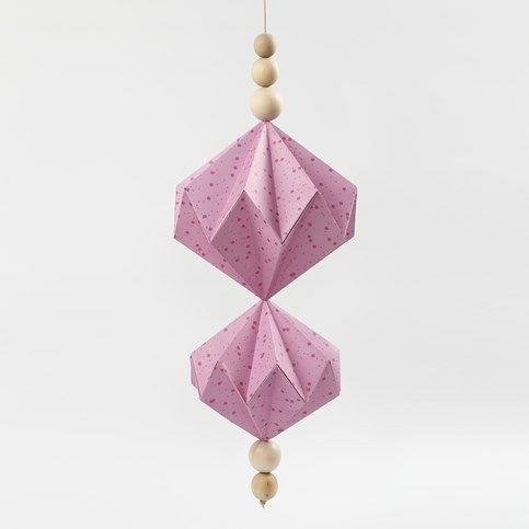 diy ornament | Ophæng med papirdiamanter af designpapir fra Vivi Gade