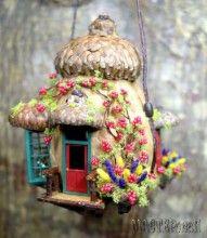 Мини домики из скорлупы от грецких орехов. Идеи