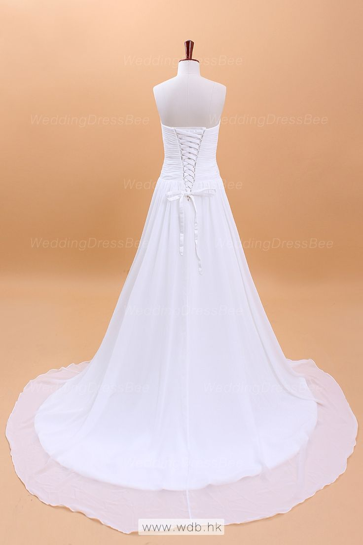 2012 Fall Strapless Chiffon bridal gown with Natural waist $228.98