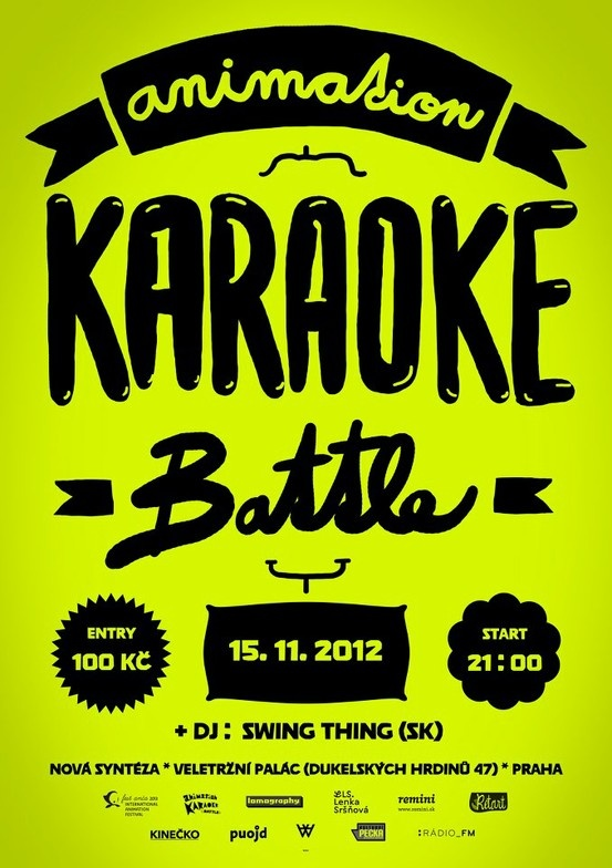 Poleno typeface as a text face for the Animation Karaoke Battle poster /// www.festanca.sk