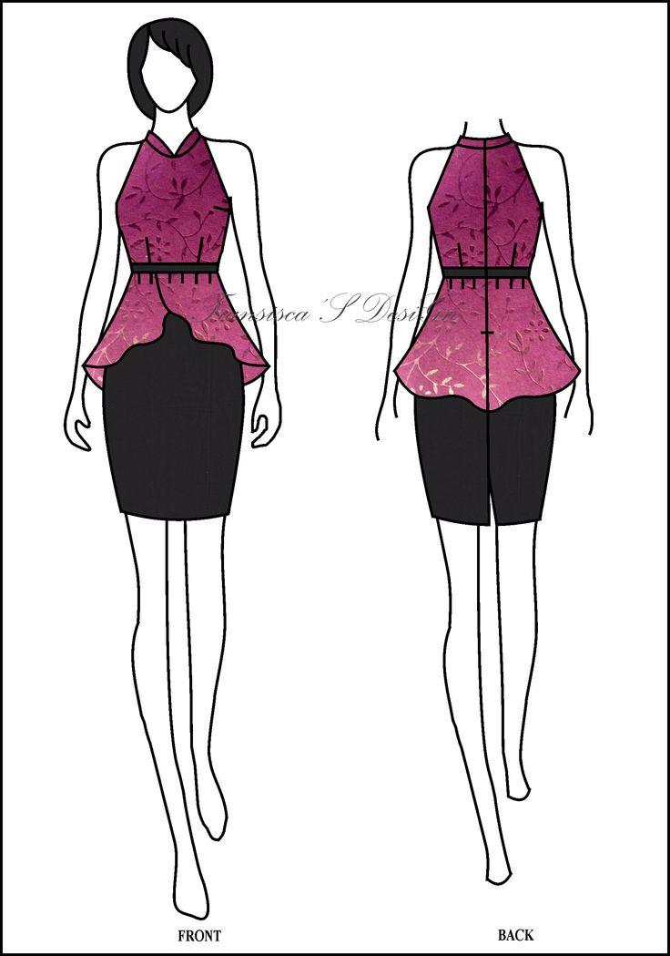 Blouse peplum asimetris krah Shanghai  #FashionDesigner #Butik #OnlineShop #DesainBajuBusanaWanita #Sketsa #Sketch #Modern #Casual #Trend #Blouse #Dress #Skirt #Hem #Batik #SoloBaru #Sukoharjo #Surakarta #JawaTengah #HP:085226138628 #PinBB:5176EF34