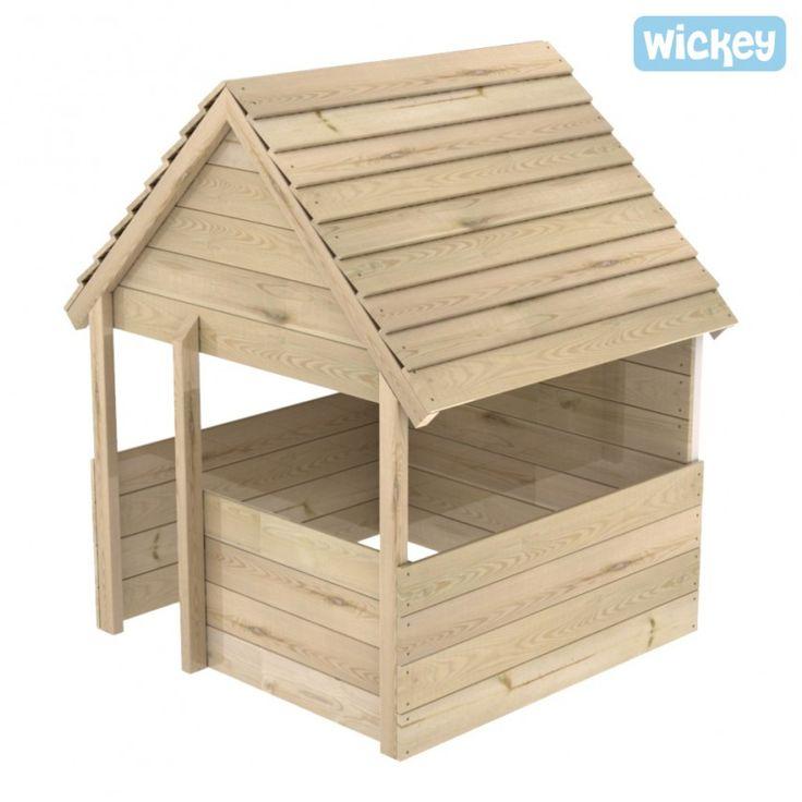 Wooden playhouse Villa Fantastico 143x113cm,sandbox