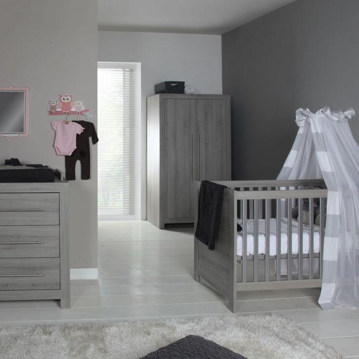 Babykamer Vittoria Grijs - Ledikant - Commode