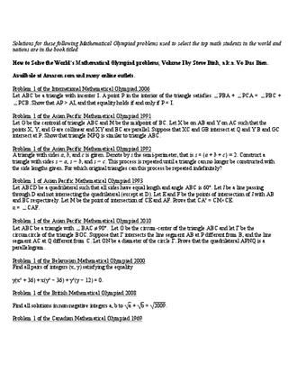 math olympiad contest problems volume 1 pdf