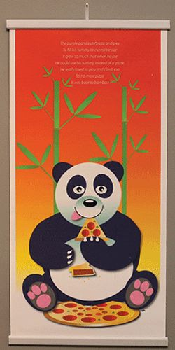 Baby Gifts Nursery & Kids Room Decor. This cute and hungry panda comes with a great sense of humour! Original nursery rhyme and panda design by Painted Rocket.
