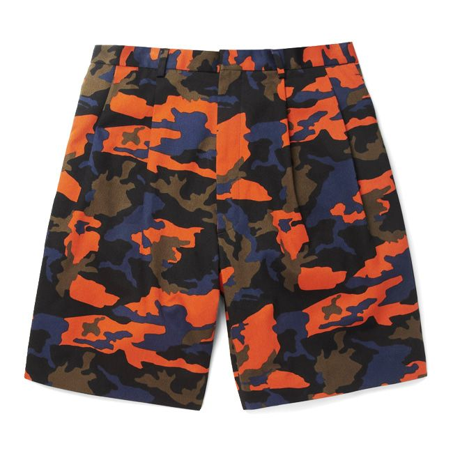 CAMO FLUO GIVENCHY  CAMOUFLAGE-PRINT JERSEY SHORTS