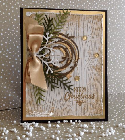 Rustic Merry Christmas... | Rambling Rose Studio | Billie Moan What a beautiful card!  Thank you Billie Moan!