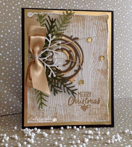 Rustic Merry Christmas... | Rambling Rose Studio | Billie Moan What a beautiful card!  Thank you Billie Moan!