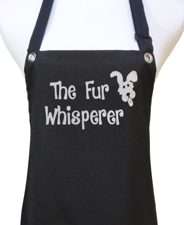 NEW!  Dog Grooming Aprons available from Trendy Salon Aprons.  Many designs to choose from.  Thick waterproof coated aprons.