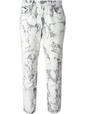 джинсы  с принтом