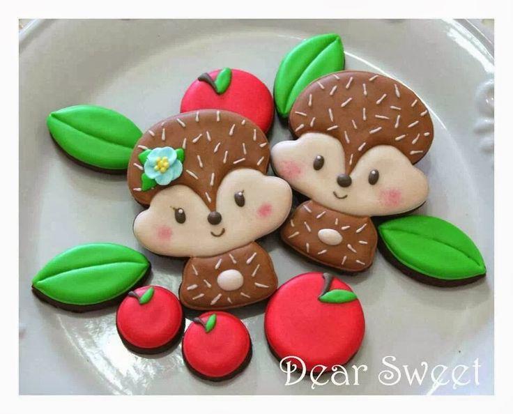 Hedgehogs são os fofíssimos mini porcos-espinhos da África   e eles foram minha inspiração para criar a versão em cookies!   Hedgehogs...