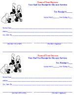 Year End Tax Receipt – Daycare Form