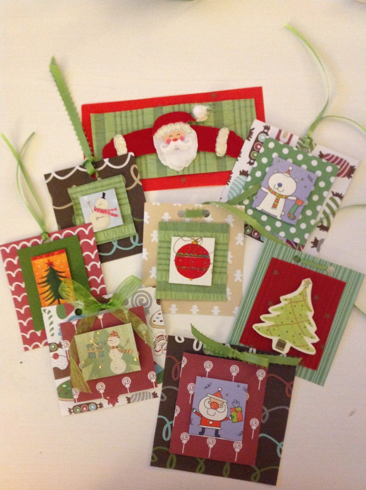 77 best recycled greeting card ideas images on pinterest christmas recycled greeting card tagsornaments m4hsunfo