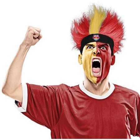 MLS Fuzzy Head Wig, NY Red Bulls, Size: One Size Fits  Most, Multicolor