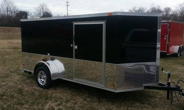 2014 6x12 Enclosed Low Profile Cargo Trailer 81 Quot Tall Over