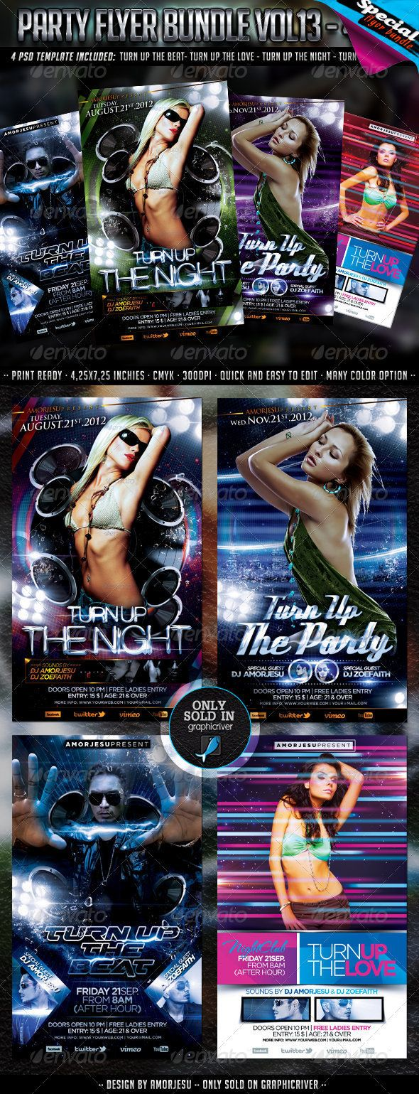 4 up flyer template