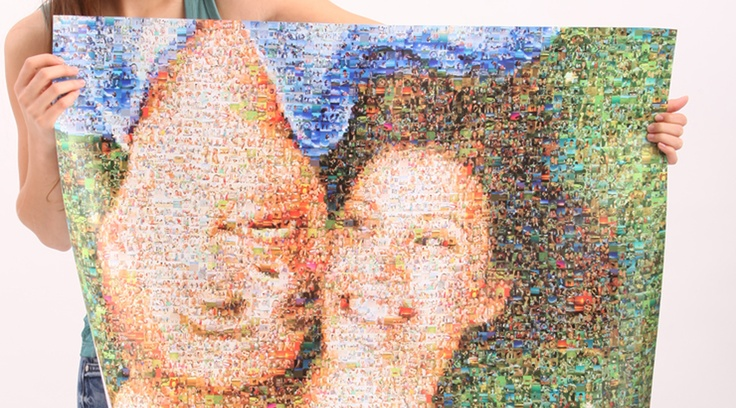 Your personal photomosaic from MakeMyMosaic.de, starting from 29€! // Dein individuelles Fotomosaik bereits ab 29€!