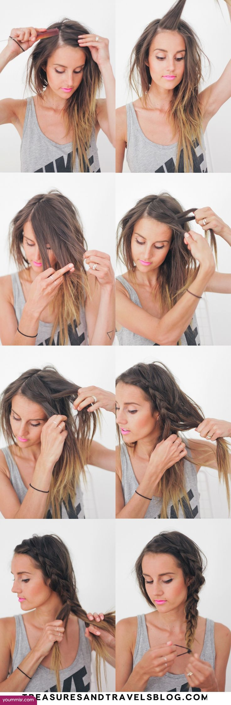 easy short long hairstyles 2015 2016 by step http://www.yoummisr.com/easy-short-long-hairstyles-2015-2016-step/