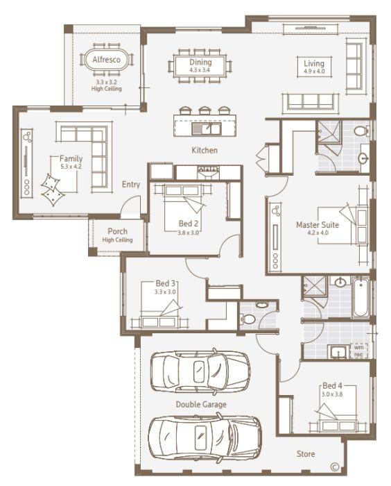 Duplex house designs triplex house designs battle axe for Duplex plans australia
