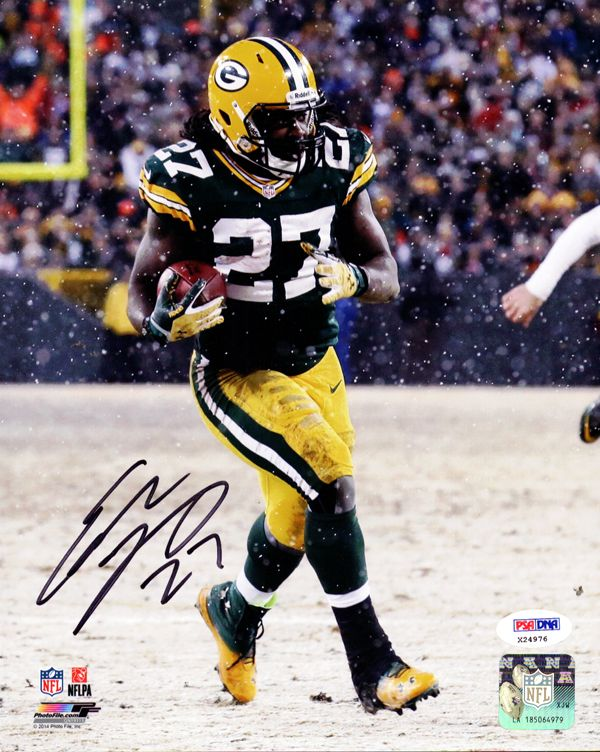 Eddie Lacy Autographed 8x10 Photo Green Bay Packers PSA/DNA Stock #82342