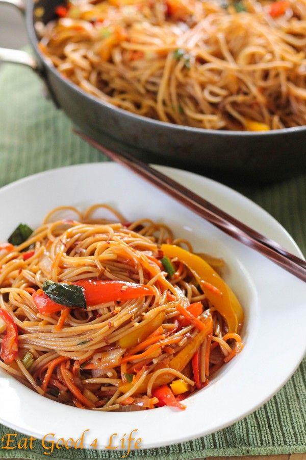 Super easy Vegetable lo mein - Vegan,