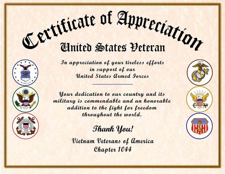 25+ unique Certificate of appreciation ideas on Pinterest - sample certificate of appreciation