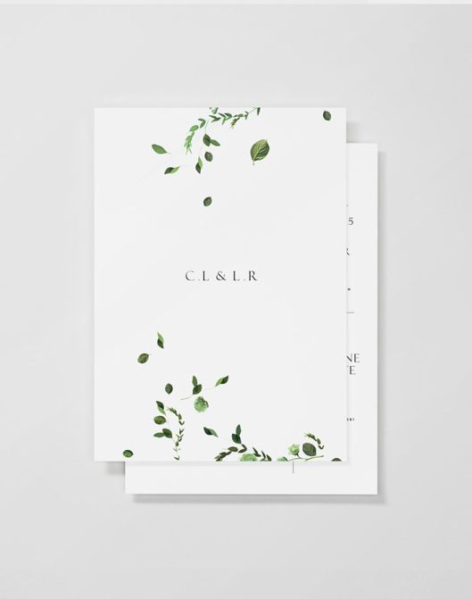 minimal wedding invitations