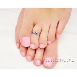 Серебряное кольцо на ногу 04277