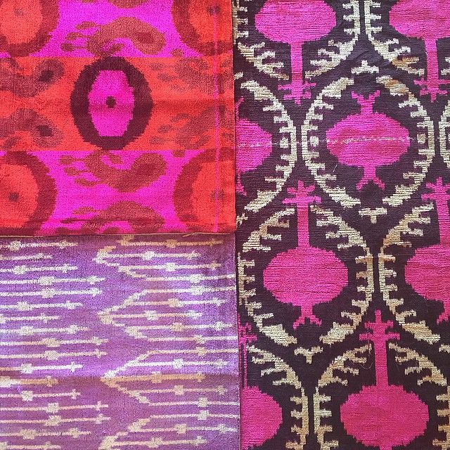 Some vintage silk velvet ikat #textiles just in from Istanbul. I see pretty pillows in... | Use Instagram online! Websta is the Best Instagram Web Viewer!