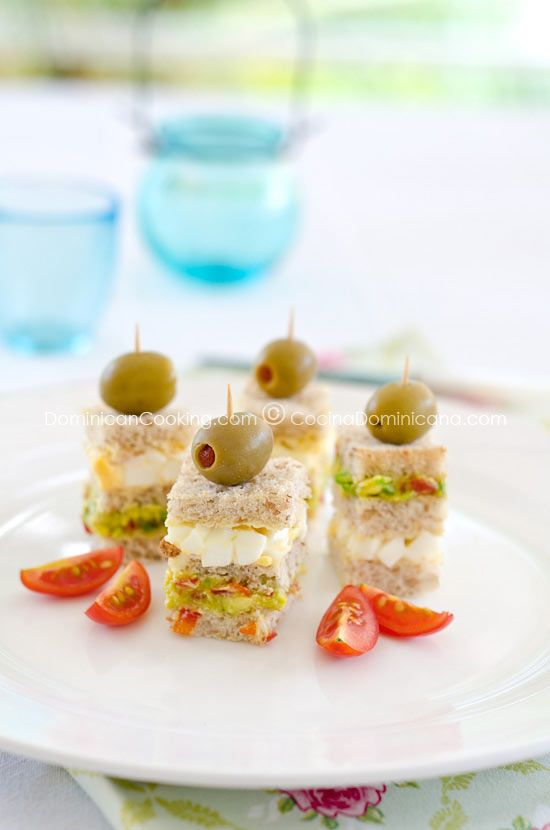 Triples (Triple-layered mini-sandwich). Look great! Perfect for luncheon, tea or a shower