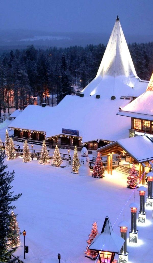 Rovaniemi, Finland = the official home of Santa Claus!
