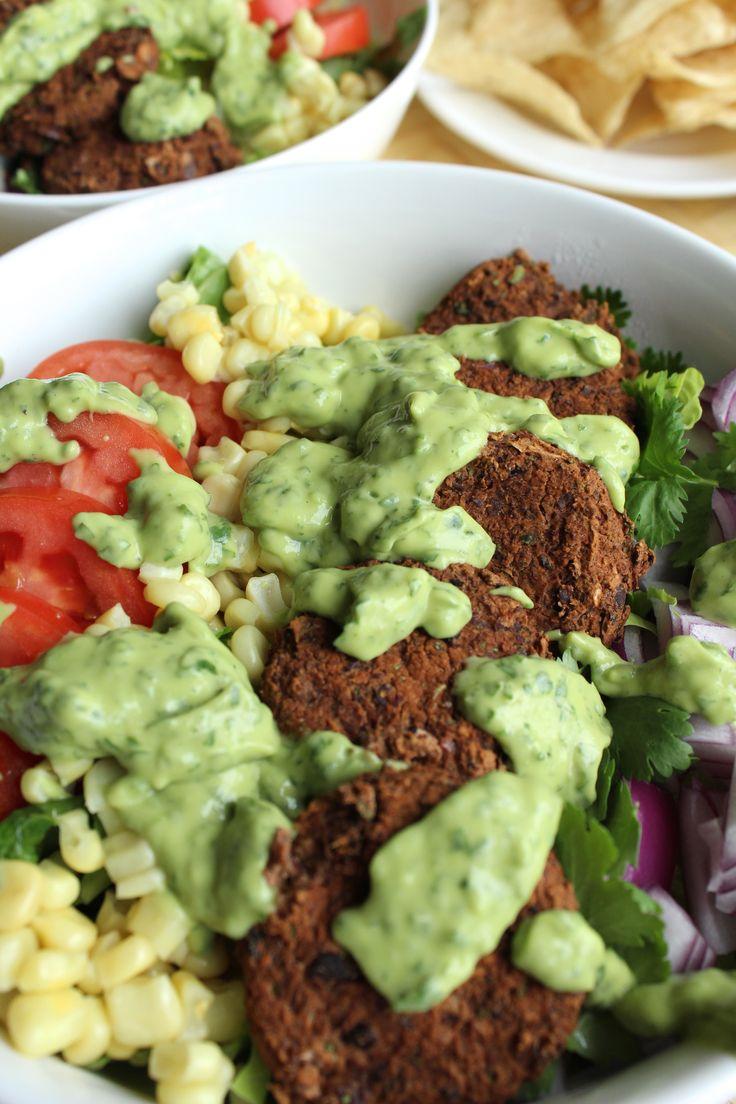 Blue apron falafel - Southwestern Salad With Black Bean Falafel