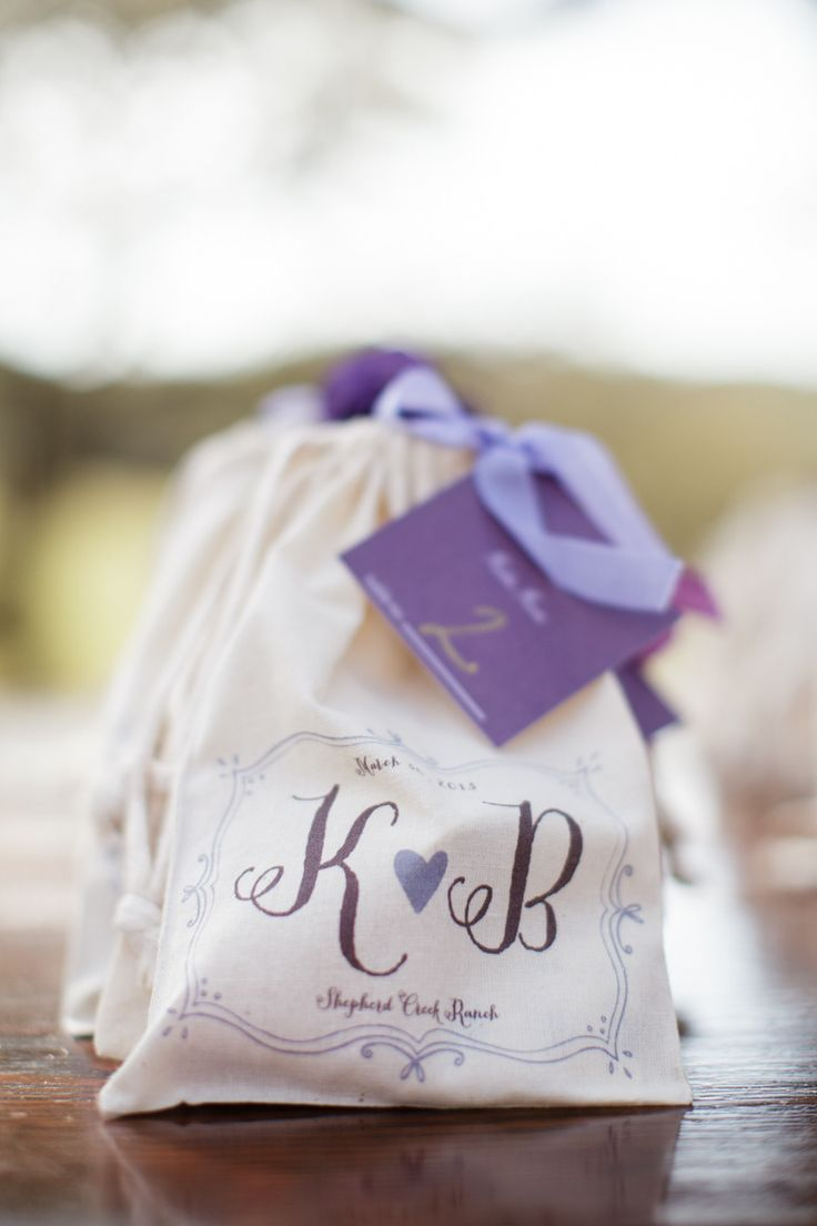 Romantic Ranch Wedding In Kendalia Purple WeddingWedding Favor BagsWedding