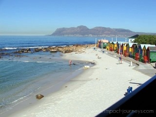 beautiful view of Muizenberg from the train (short ride from Cape Town, South Africa)
