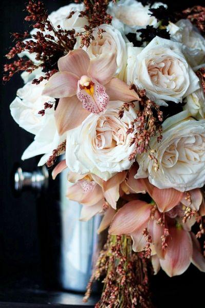 Soft colors and textures. Floral design by Floret Cadet