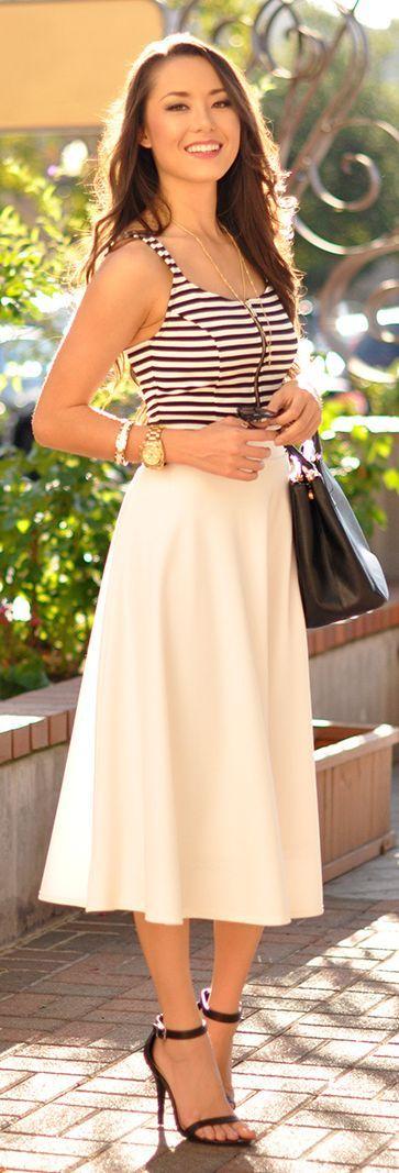 Bb Dakota Black And White Gorgeous Front Zipper Striped Crop Tankini by Hapa Time