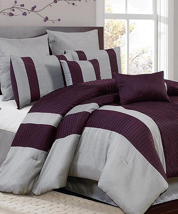 Take a look at this Silver & Plum Bali Comforter Set on zulily today!