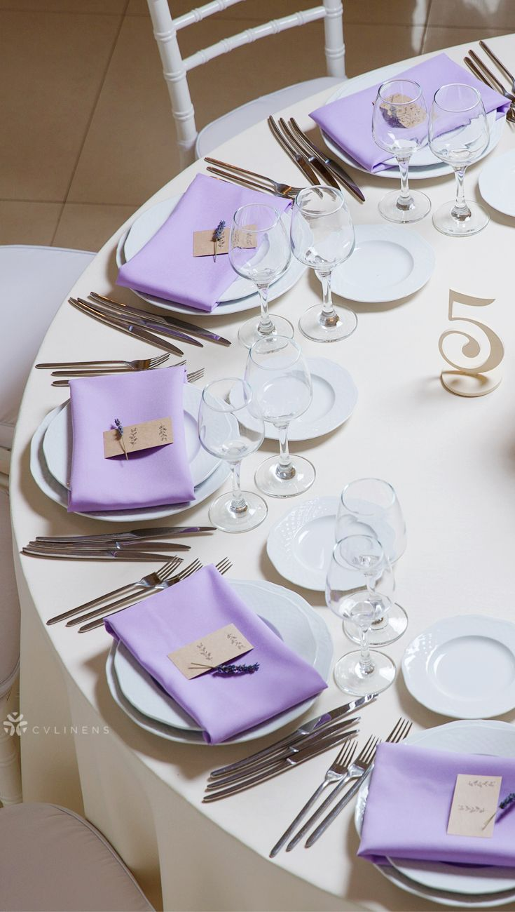 Polyester Napkin 20 X20 Lavender Dinner Party Table Settings Dinner Party Table Dinner Table Setting