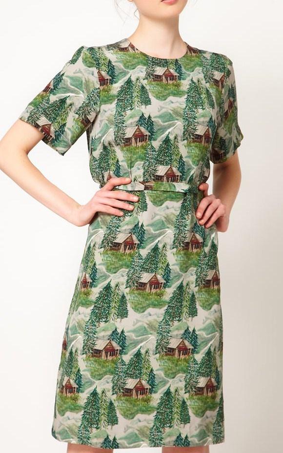 Peter Jensen lodge print dress...LOVE it.