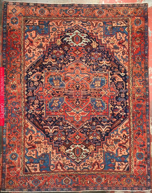 Persian Heriz Serapi Rug 9 7 X 12 1 Serapi Rug Patterned Carpet Rugs