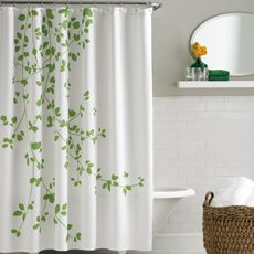 green leaves shower curtain - kate spade - bed bath and beyond